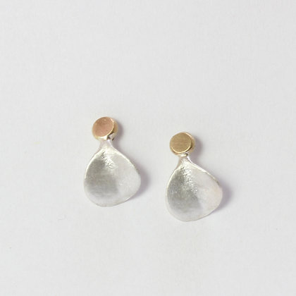 Succulent Leaf Earring in Silver and Gold