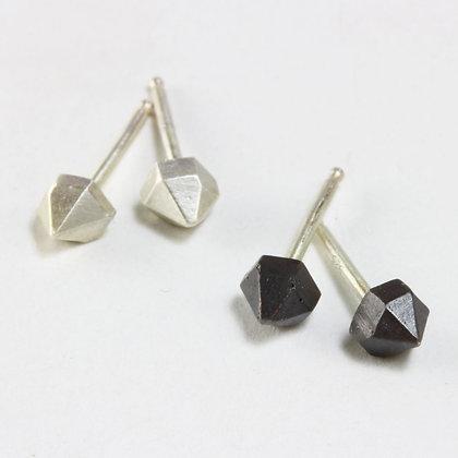 Half Herkimer Stud Earrings