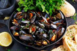 Hand picked Scottish mussels