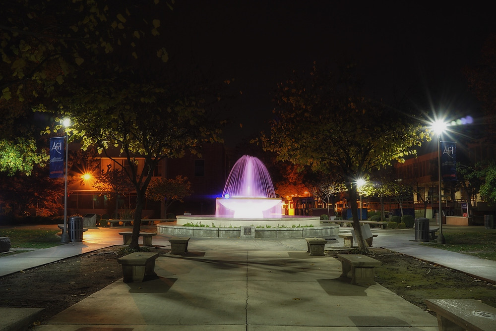 Fresno State University Water Fountain