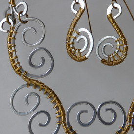 Woven Wire (set): Aluminum wrapped with brass wire. $125