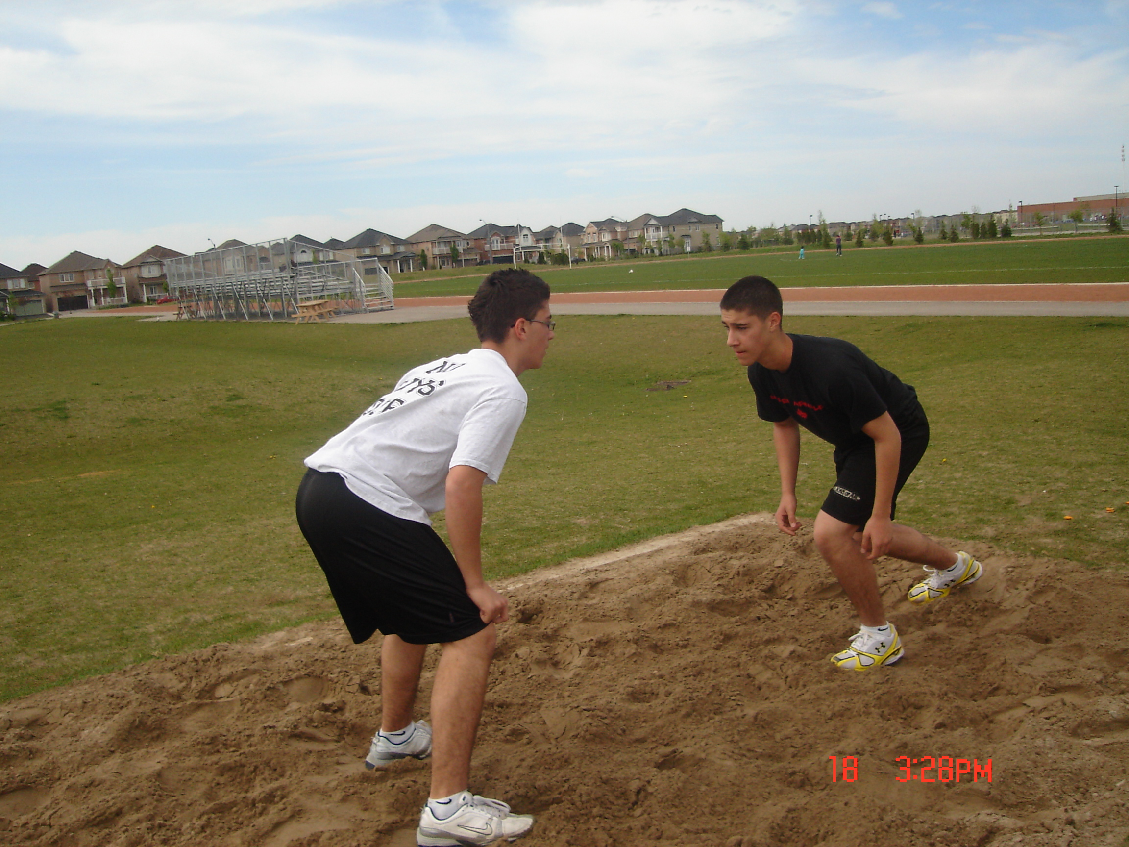 Blocking in the sand pit