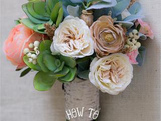 DIY Faux Flower Bridal Bouquet on a Budget