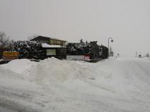 Schneeberg an der Kreuzung