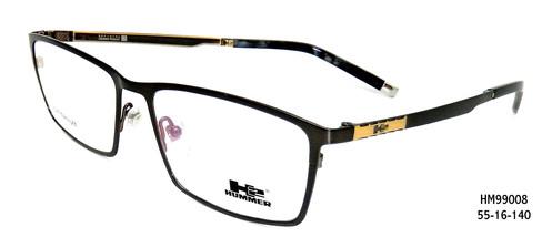 3708f5d355182 100% Genuine Professional Hummer H2 Eyewear Material   Titanium Type   Full  Frame Model   HM99008 Colour   Black