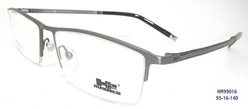 116f3880d3833 100% Genuine Professional Hummer H2 Eyewear Material   Titanium Type   Half  Frame Model   HM99016 Colour   Black