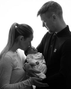 Newborn parent photography session
