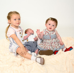 Family photography studio session