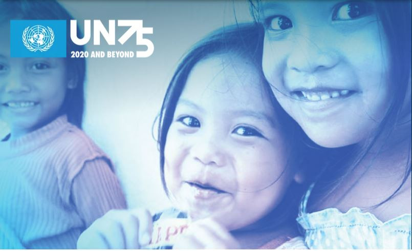 The UN at 75.  Children's faces.