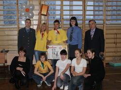 Фотография с победителями игр