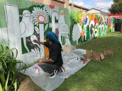 Skip Hill Mural @ Maria's Garden