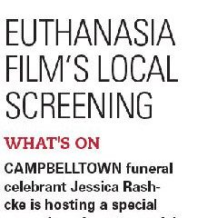ARTICLE: Euthanasia Film's Local Screening