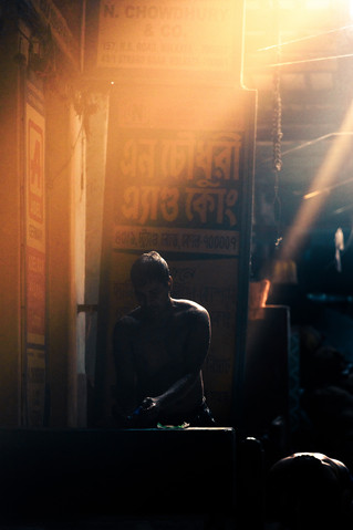Morning Rays on a Man