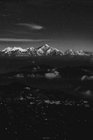 The Sleeping Buddha Range under the Stars