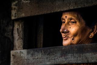 Old Peeping Woman