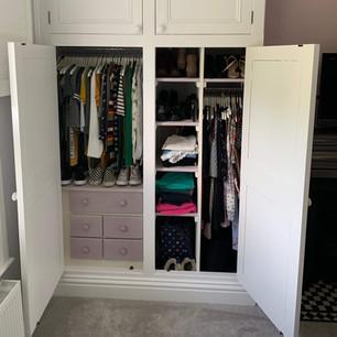 Fitted wardrobe interior