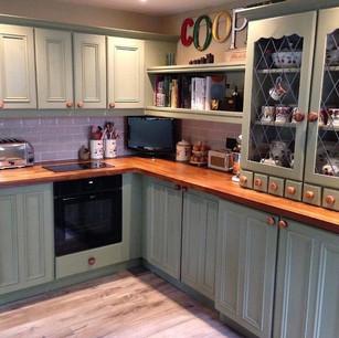 Painted pine kitchen