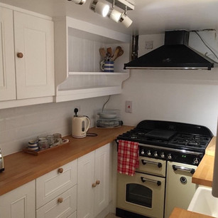 Small painted pine kitchen