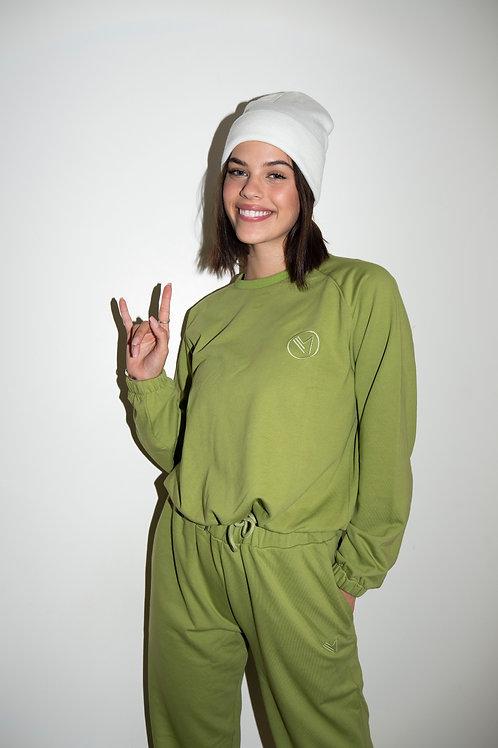 Emalya - Sweatshirts (Olive Green)