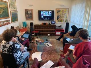 בעת ההרצאות בפורום הבין-לאומי מתכנסת הקבוצה הישראלית ביחד ומתחברת דרך זום לקבוצות מרחבי העולם להרצאות ודיונים מרתקים.