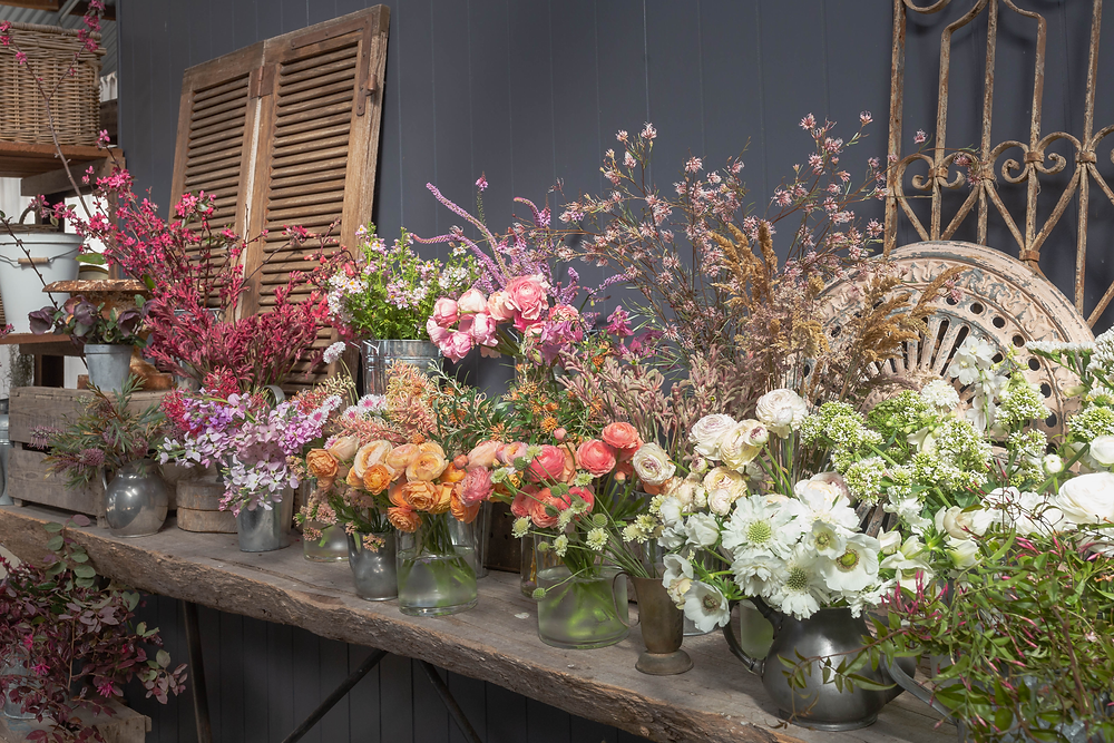 Farmer/florist Helen Leighton grows beautiful flowers for her Floral Design work