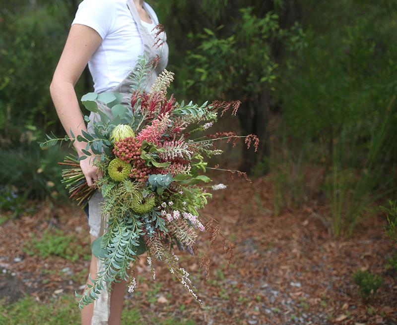 Australian wildflower bridal bouquet