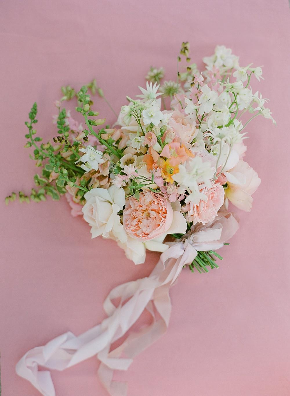wildly romantic spring floral bouquet