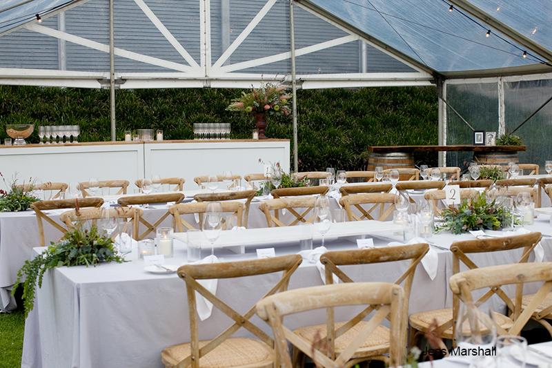 Wedding set up at Pepper and Salt