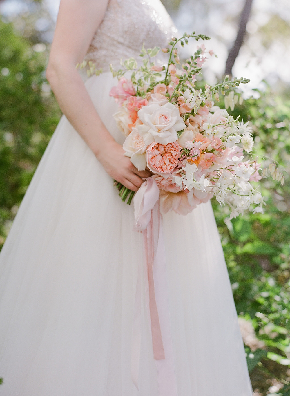 Spring bridal bouquet grown and designed by Helen Leighton of Riverdale Farm