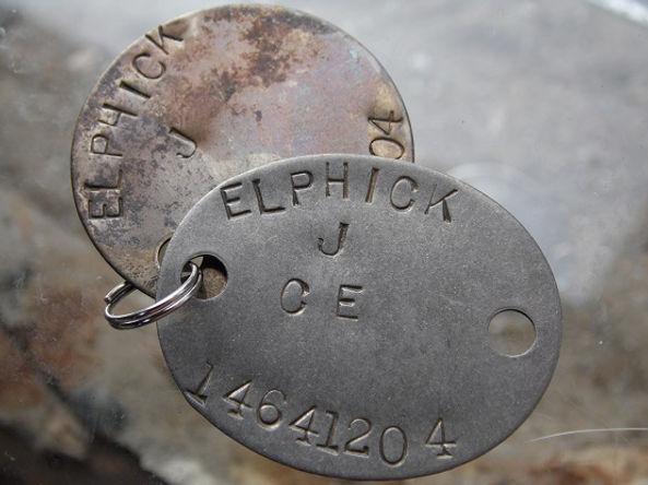 Trooper James Elphick 14641204 dog-tags