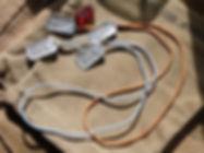 ww2 Rayon dogtag cords extreme relic hun
