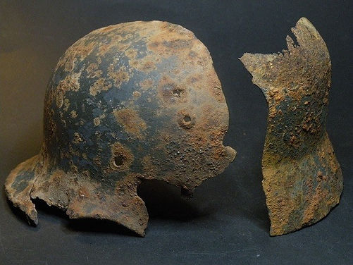 german relic helmet latvia