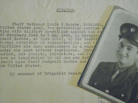 Men behind the militaria book Sgt Louis Sarube