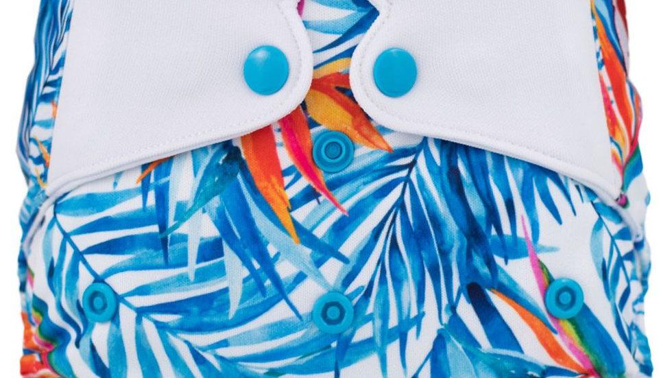 Cubierta Hojas Azul con Naranja