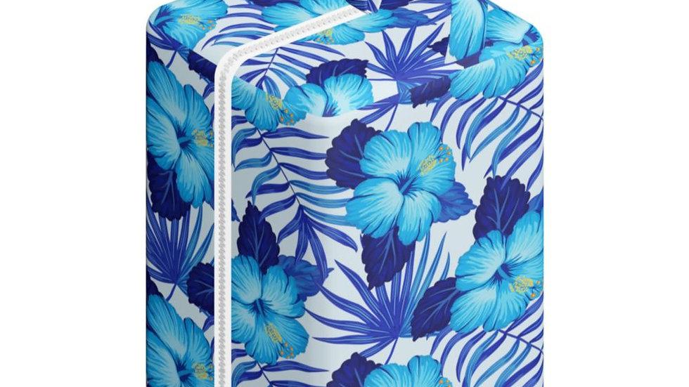 Pod Hojas y Flores Azules