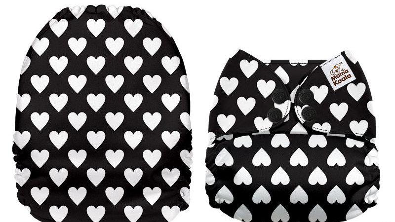 Negro con corazones