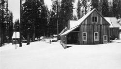 M068 Shaver Lake store in snow, circa 19