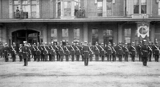 AR35 Masons Fresno Command in front of H
