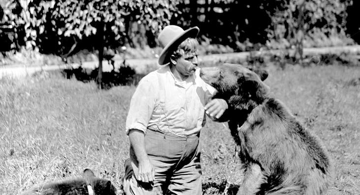 John Zapp with his Bears at Zapp's Park Zoo. Photo Taken by Pop Laval.