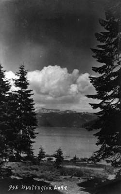 M029 Huntington Lake with clouds, circa