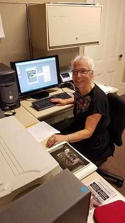 Sue scanning photographs.jpg