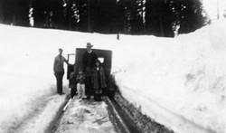 M076 Driving up to Starkey cabin, circa