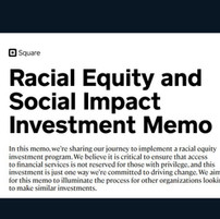 Racial Equity and Social Impact Investment Memo