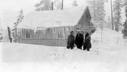 M001 Cha Day Store at Bass Lake in snow,