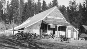 M044 Armstrong's Store with motorcycles,