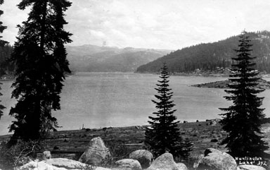 M028 Huntington Lake shore, circa 1920