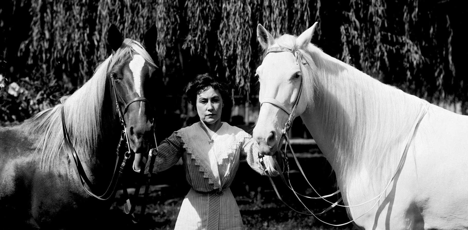 Leota Zapp and her Horses who performed at Zapp Park regularly.  Photo taken by Pop Laval.