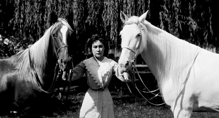 Leota Zapp and her horses at Zapp's Park.  Photo Take by Pop Laval.