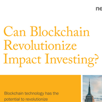 Can Blockchain Revolutionalize Impact In