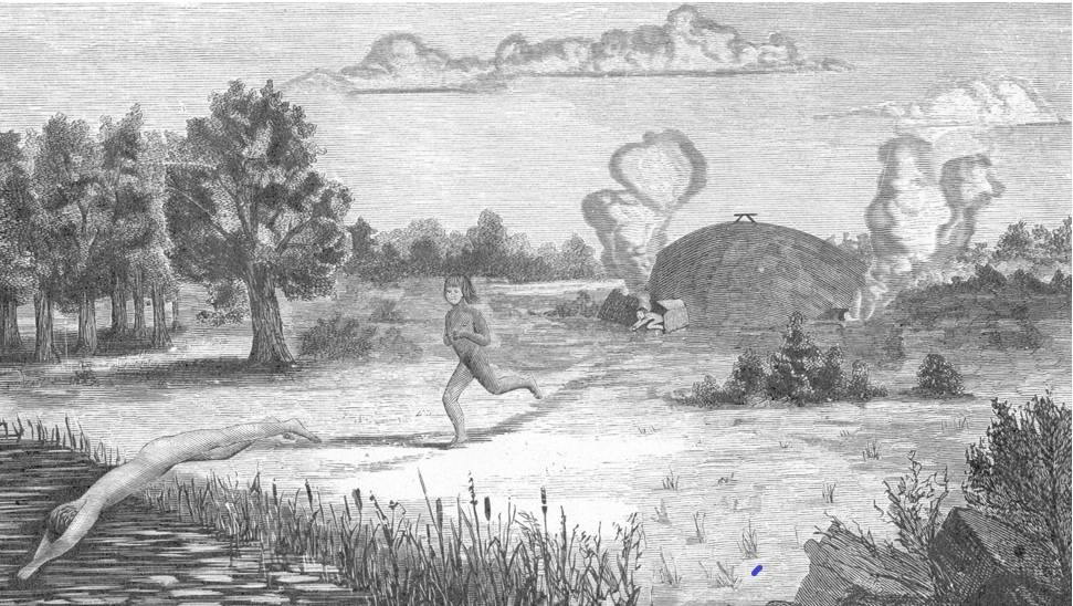 Sketch of Sweat Lodge
